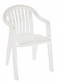 White garden chair rent or hire