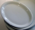 20 Inch White China Oval Platter hire